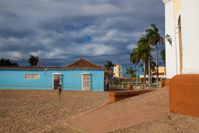 广场正方形市长-特立尼达,古巴的主要 免版税库存照片