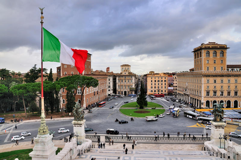 广场罗马venezia 库存照片