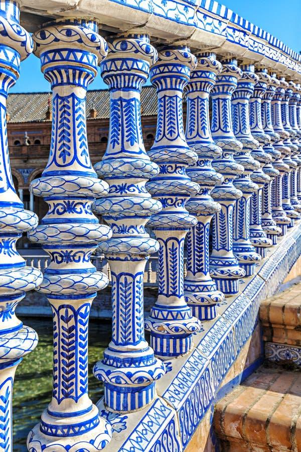 广场西班牙在塞维利亚,西班牙 免版税库存图片