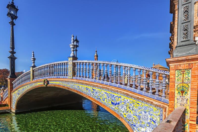 广场西班牙在塞维利亚,西班牙 库存图片