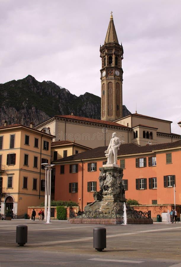 广场马力欧Cermentani,在科莫镇 库存图片