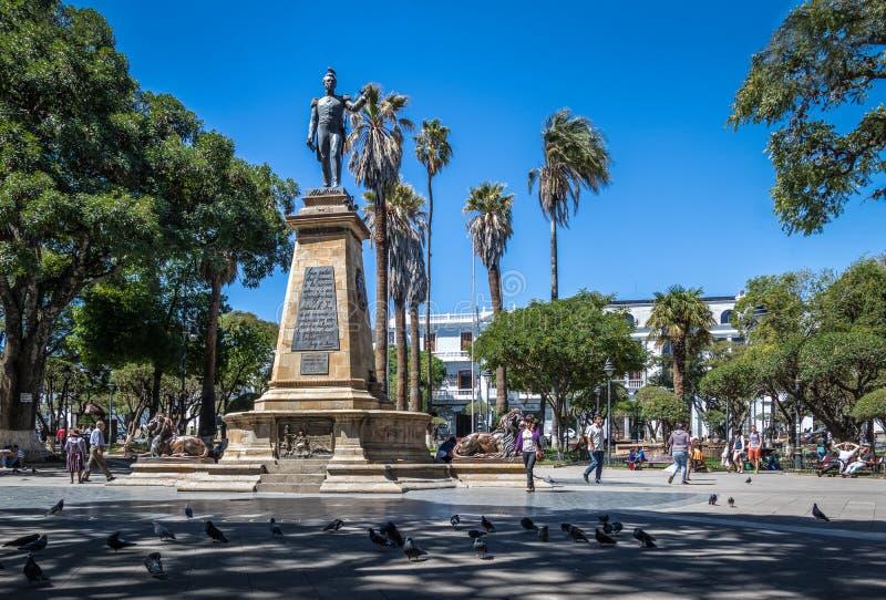 广场25 de马约角-苏克雷,玻利维亚 免版税库存图片