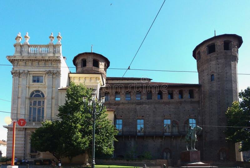 广场Castello在都灵 库存照片