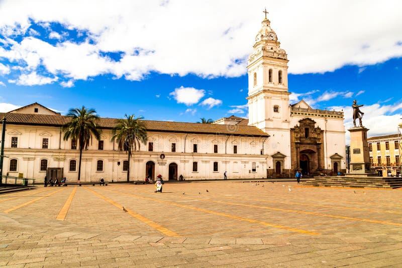 广场de圣多明哥基多厄瓜多尔南美 免版税库存图片