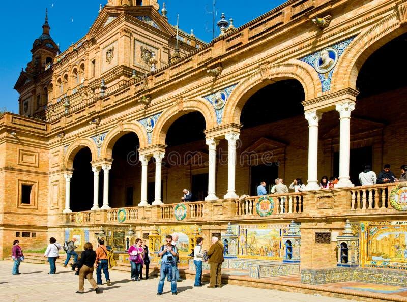 广场de EspaA±aa 免版税库存图片