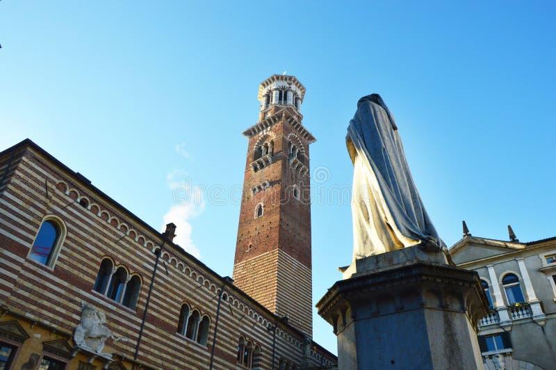 广场dei绅士在维罗纳,意大利 图库摄影