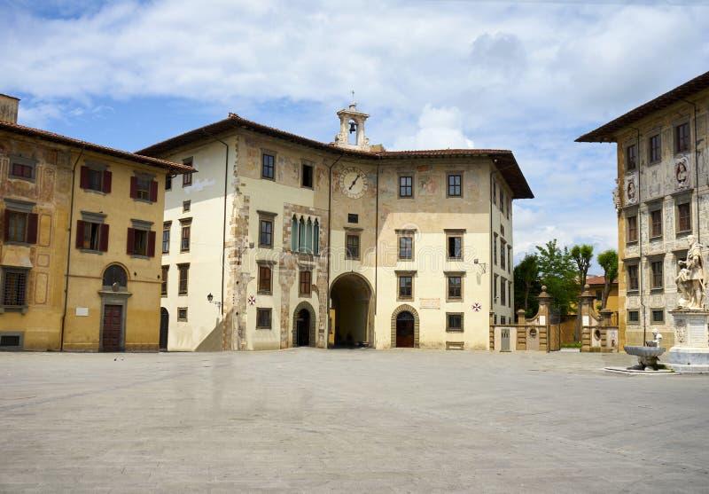 广场dei Cavalieri比萨意大利 免版税库存图片
