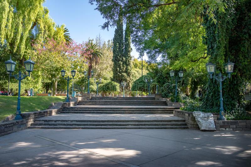 广场Independencia独立广场- Mendoza,阿根廷- Mendoza,阿根廷 库存照片