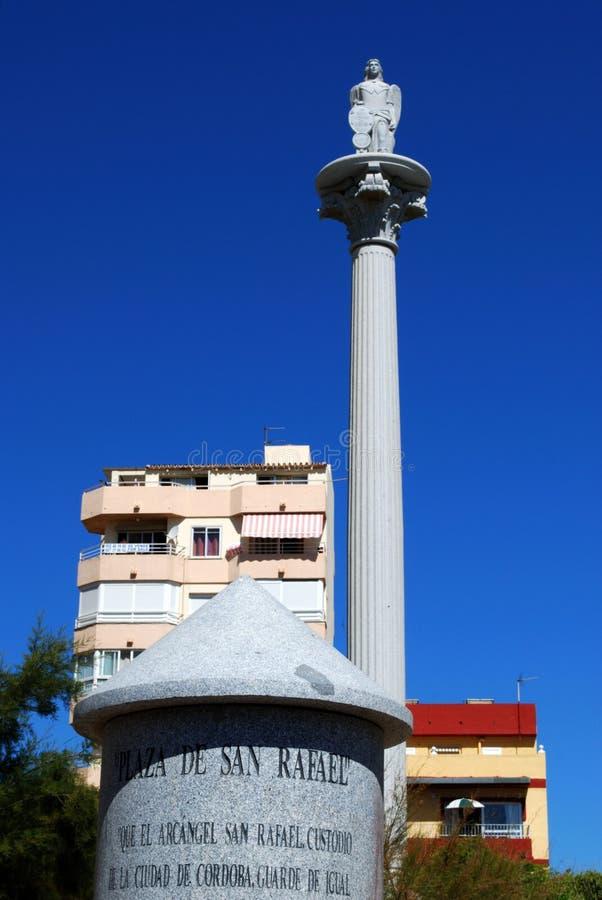 广场San Rafael, Fuengirola,西班牙。 免版税库存图片