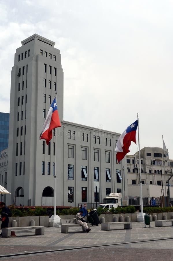 广场Sotomayor,瓦尔帕莱索,智利 库存照片