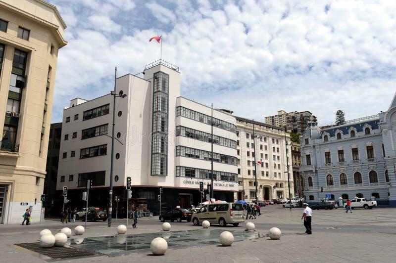 广场Sotomayor,瓦尔帕莱索,智利 免版税图库摄影