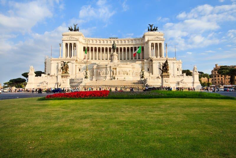 广场Venezia在罗马,意大利 免版税图库摄影