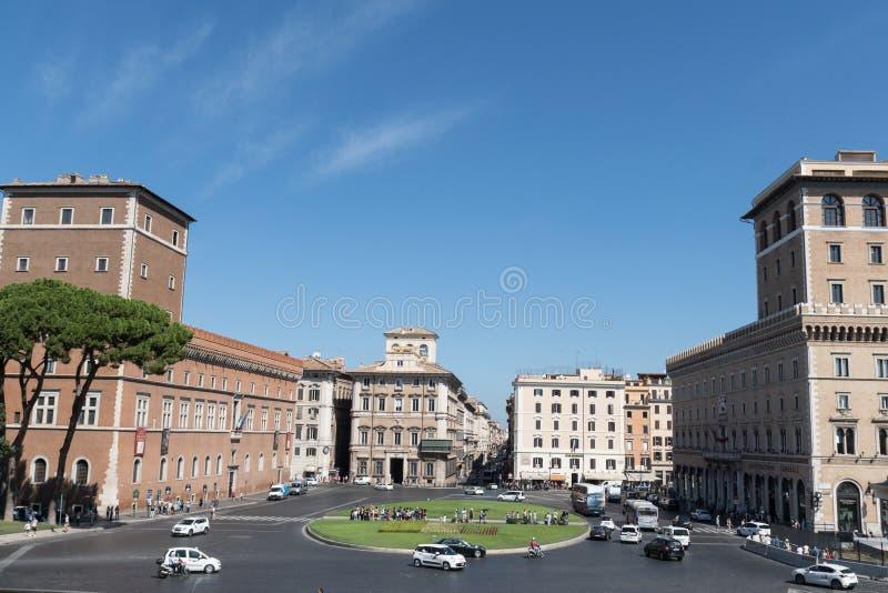 广场Venezia,罗马,意大利 库存照片