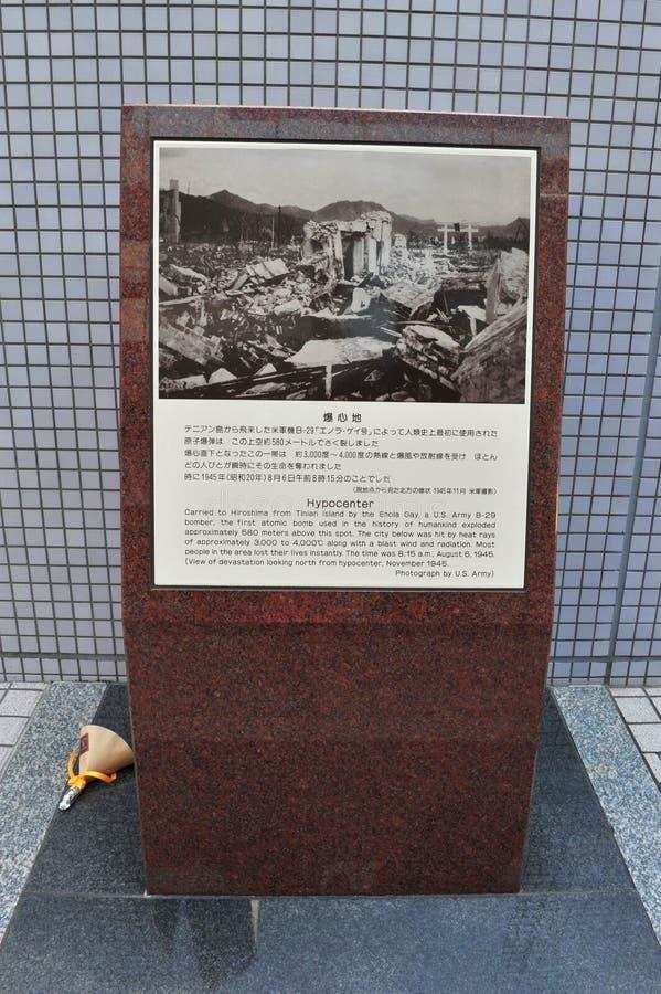 广岛原子弹震源  库存照片