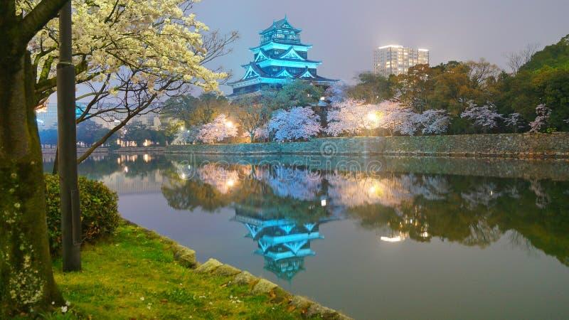 广岛城堡东部小塔 库存照片