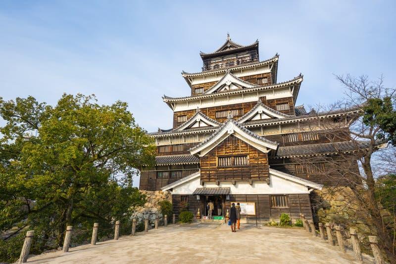 广岛城堡在Horoshima,日本 图库摄影