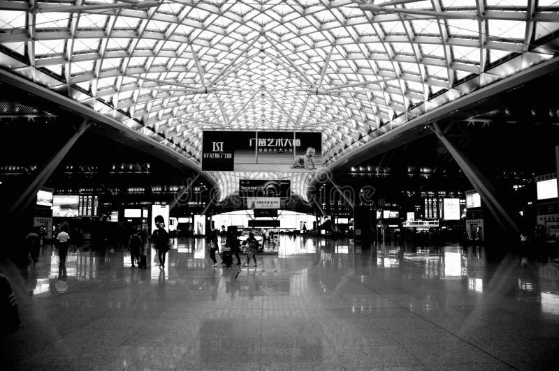广州南铁路,广东,中国 库存照片