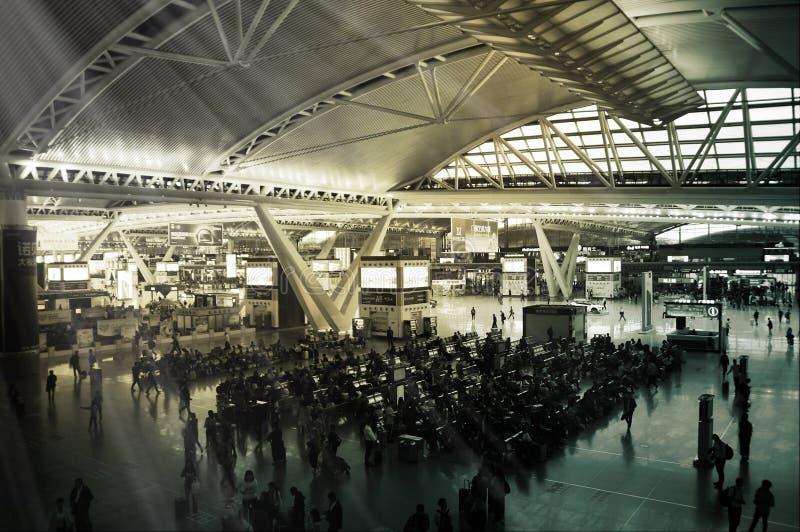广州南铁路,广东,中国 免版税图库摄影