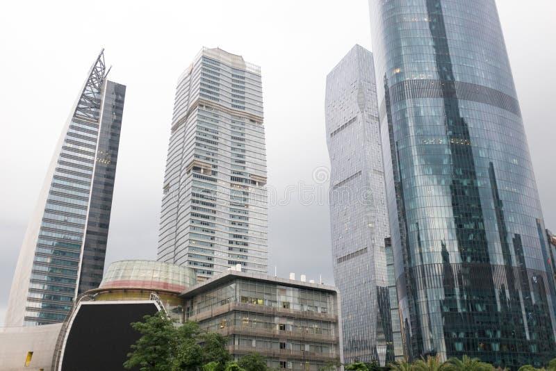 广州摩天大楼,中国 库存图片