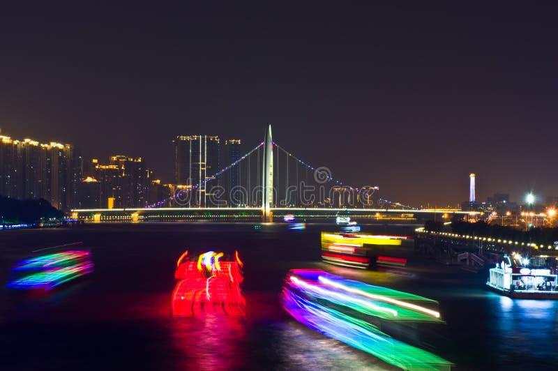 广州晚上 库存照片
