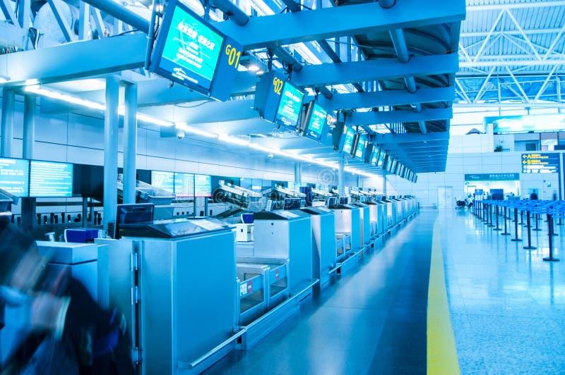 广州baiyun国际机场,上关于 免版税库存图片