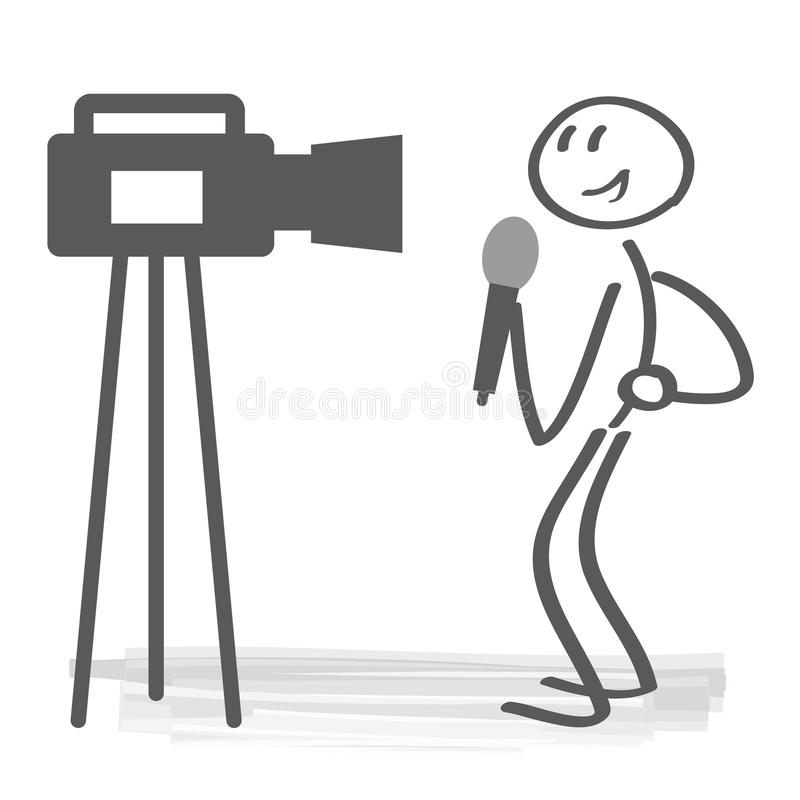 广播新闻工作者传染媒介例证概念 向量例证