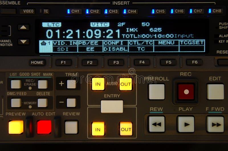 广播显示录象机 免版税库存图片