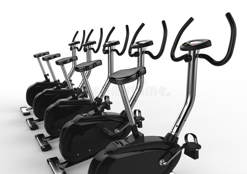 广角固定式的自行车- 皇族释放例证