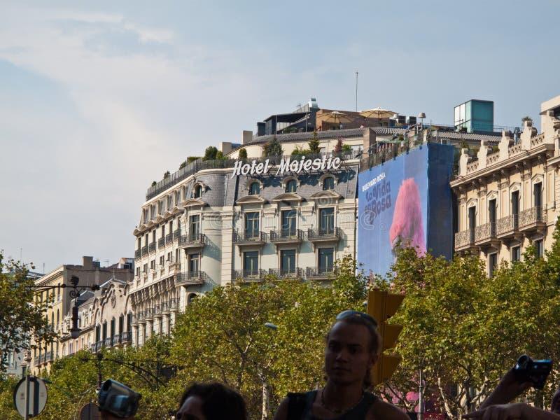 庄严巴塞罗那的旅馆 编辑类库存图片