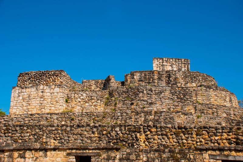 庄严废墟在Ek Balam Ek Balam是在Temozon内,尤加坦,墨西哥的自治市的一个Yucatec玛雅人考古学站点 免版税库存图片