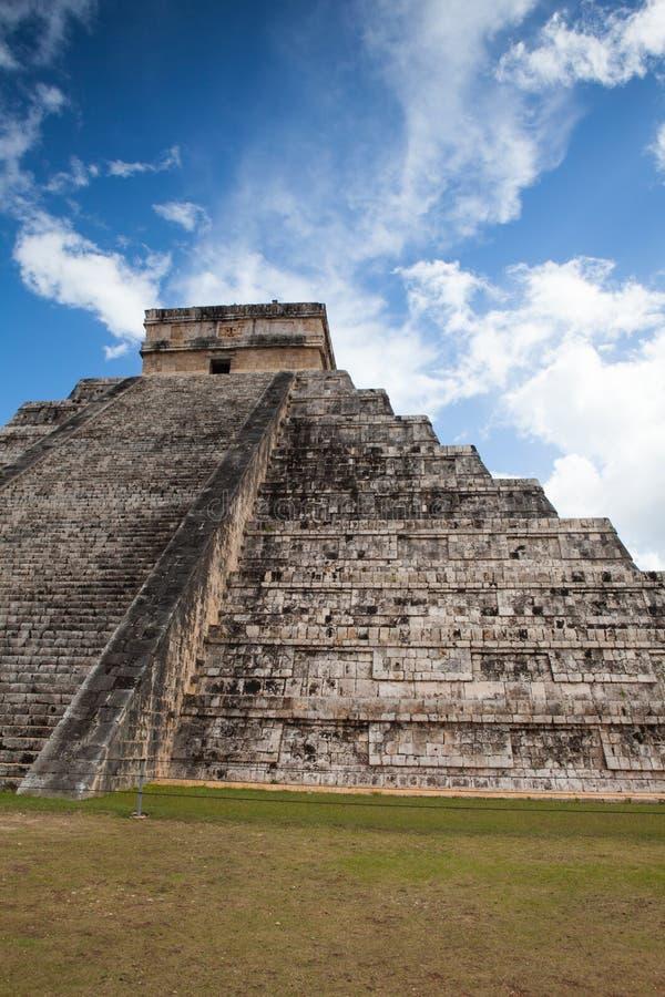 庄严玛雅废墟在奇琴伊察,墨西哥 库存照片