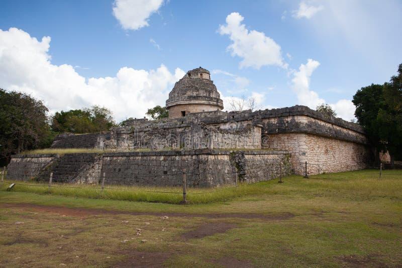 庄严玛雅废墟在奇琴伊察,墨西哥 免版税库存照片