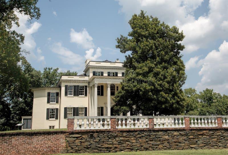 庄严Oatlands豪宅在利斯堡,弗吉尼亚 免版税库存照片