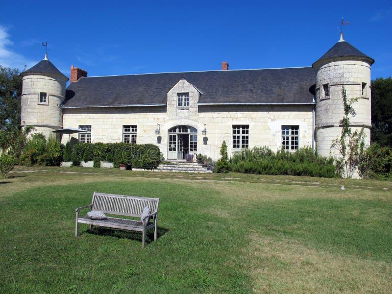庄园住宅在Loire Valley 免版税库存照片