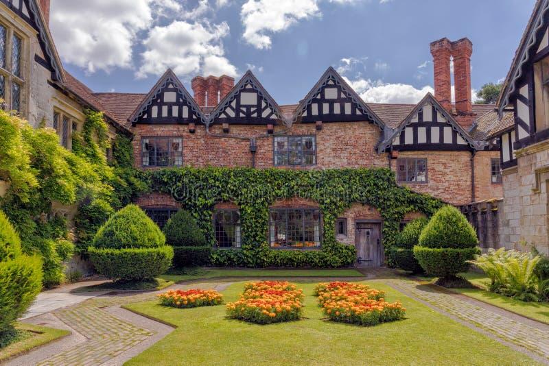 庄园住宅庭院, Baddesley克林顿 免版税库存图片