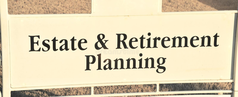 庄园和退休计划 免版税库存图片