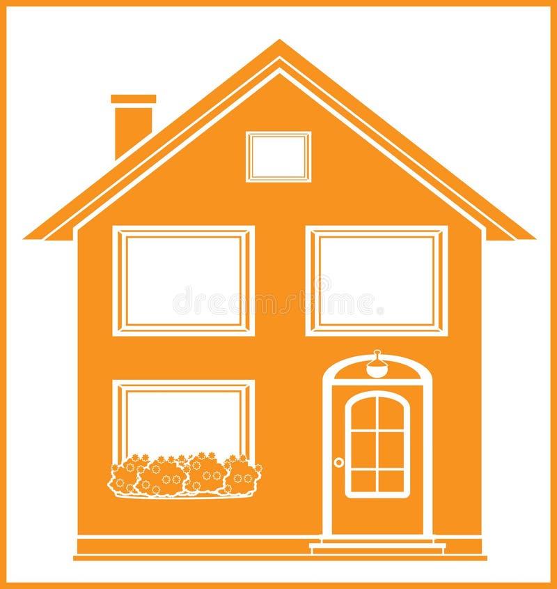 庄园房子查出的实际符号 向量例证