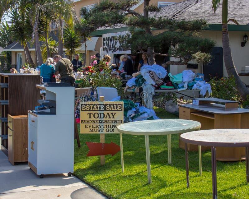 庄园销售在新港海滨 库存照片