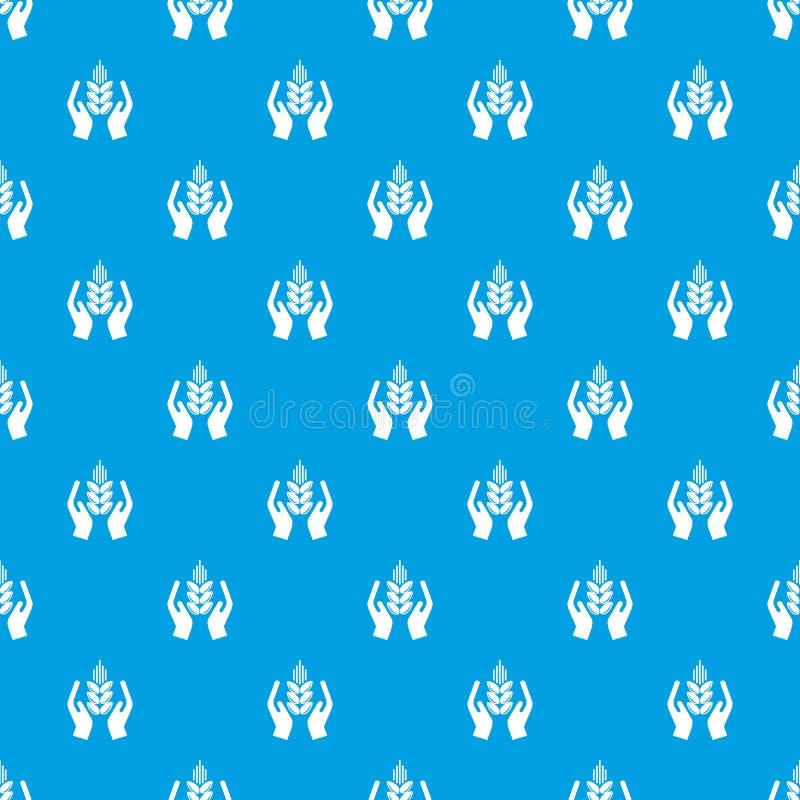庄稼保护样式传染媒介无缝的蓝色 向量例证