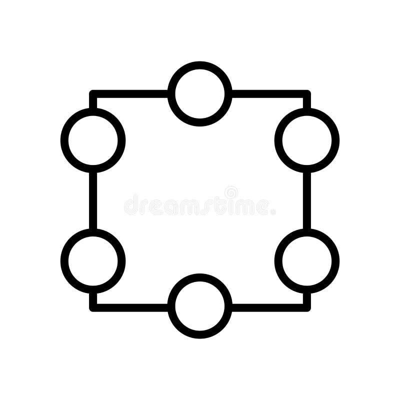 庄稼在白色背景、庄稼标志、线和概述元素隔绝的象传染媒介在线性样式 向量例证
