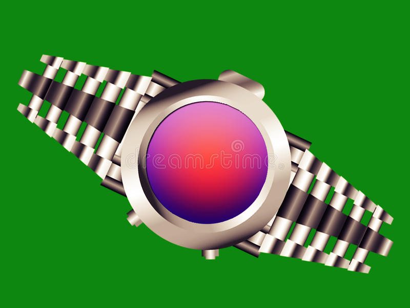 庄稼容易的手表 向量例证