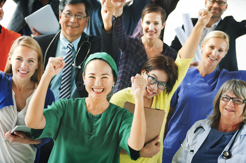 庆祝不同的人民各种各样的职业概念 免版税库存照片