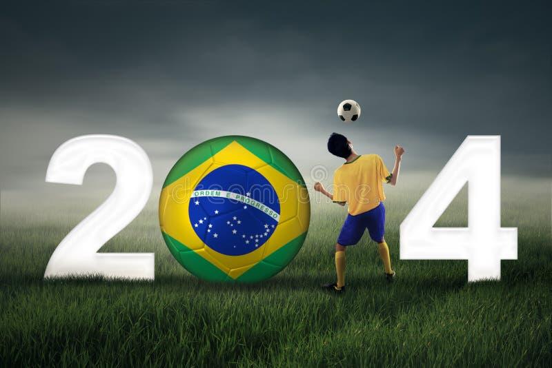 庆祝世界杯2014年 免版税库存照片