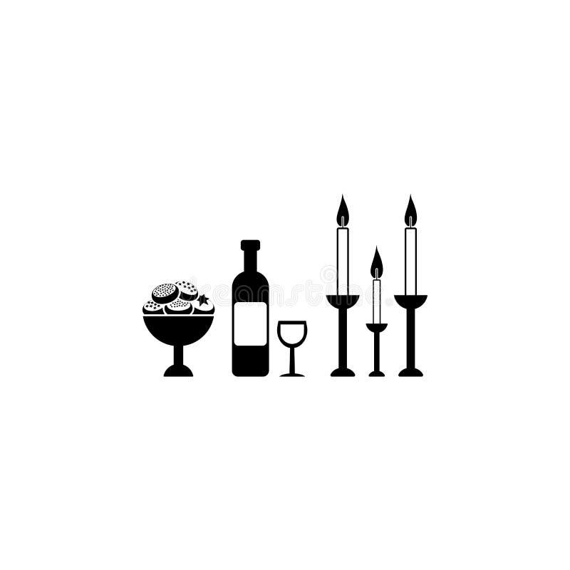 庆祝光明节,酒象 光明节象的元素流动概念和网应用程序的 详细的庆祝的光明节,酒ico 向量例证