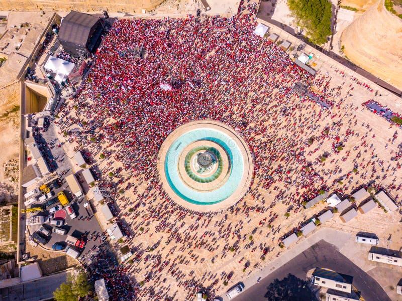 庆祝劳动节在瓦莱塔,马耳他 免版税图库摄影