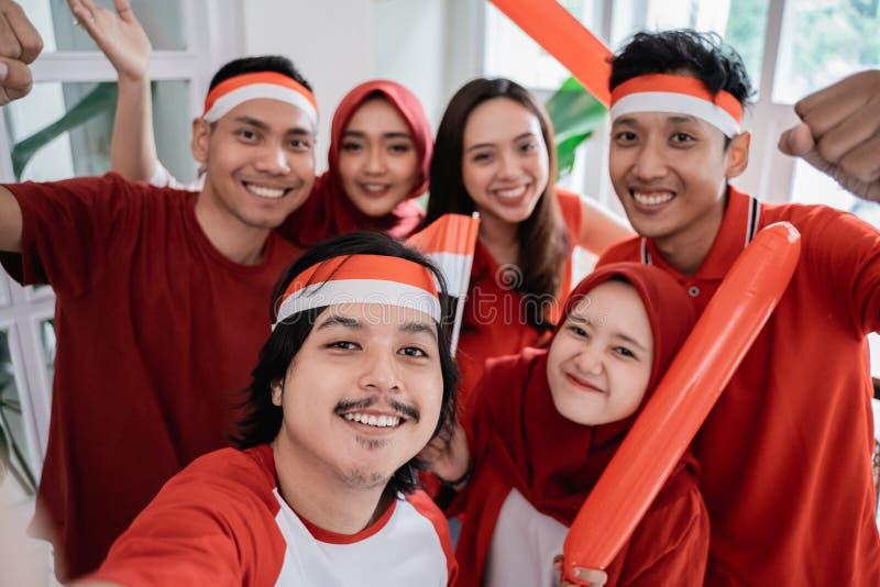 庆祝印度尼西亚独立日的亚裔人民 库存照片