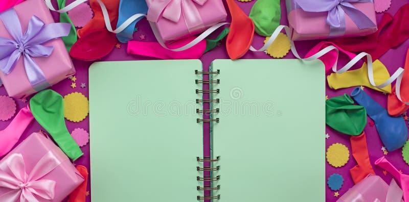 庆祝和装饰的横幅欢乐背景装饰构成材料 免版税图库摄影