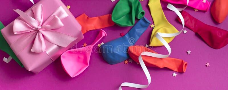 庆祝和装饰的横幅欢乐背景装饰构成材料 免版税库存照片