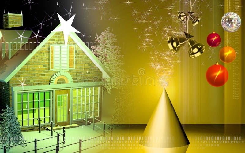庆祝圣诞节 皇族释放例证