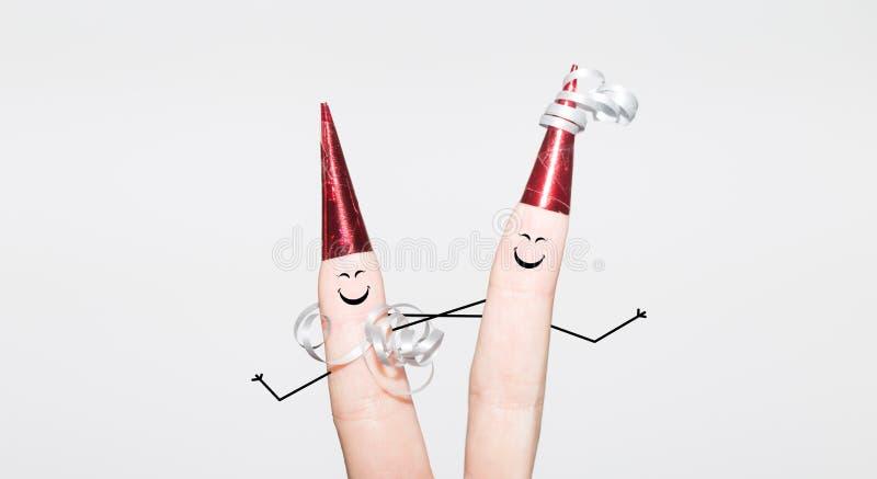 庆祝在党的两个手指 免版税库存照片